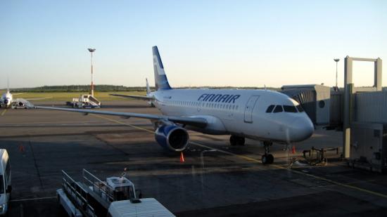 Самолет Авиакомпании Finnair (рейс Москва - Хельсинки)