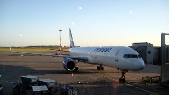 Самолет Авиакомпании Finnair (рейс Екатеринбург - Хельсинки)