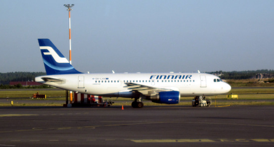 Самолет Авиакомпании Finnair (рейс Санкт-Петербург - Хельсинки)